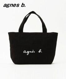 トートバッグ BLACK 黒【agnes b. アニエスベー トートバッグ ブラック キャンバス ロゴバッグ バック 日本国内正規品】