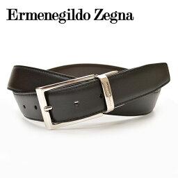 レザーベルト Ermenegildo Zegna エルメネジルド ゼニア メンズ リバーシブルレザーベルト/牛革 サイズ調整可能 サイズ*110*115* eez16s001 61 ZPJ45:ブラック/ブラウン