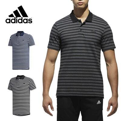 アディダス adidas ポロシャツ 半袖 メンズ M SPORT ID ボーダー ポロシャツ ETZ47