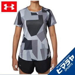 スピード アンダーアーマー スポーツウェア 半袖Tシャツ レディース スピードストライドプリントショートスリーブ ランニング WOMEN 1319772-001 UNDER ARMOUR