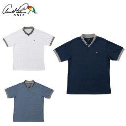 アーノルドパーマー アーノルドパーマー arnold palmer ゴルフウェア ポロシャツ 半袖 メンズ メランジ衿スキッパー半袖シャツ AP220101H02