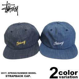 ステューシー ステューシー STUSSY ストラップバック キャップ Slub Indigo Strapback Cap [131709] 【STUSSY stussy キャップ 6パネルキャップ 帽子 新品 メンズ レディース アメカジ】【あす楽対応】