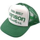 バンズ VS14707 バンソン (VANSON) キャップ 緑/白 フリーサイズ