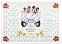 ミッキー&ミニー ミッキー&ミニーのメッセージパズルのウェルカムボード「クラシックカー」80ピース ディズニー 結婚式 寄せ書き 車