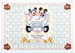 ミッキー&ミニー ディズニー メッセージパズルのウェルカムボード 『クラシックカータイプ』(ミッキーマウス&ミニーマウス)80ピース 【結婚式 寄せ書き 車】