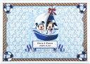ミッキー&ミニー ミッキー&ミニーのメッセージパズルのウェルカムボード「ヨット」80ピース ディズニー 結婚式 寄せ書き 帆船 海 サマーウェディング