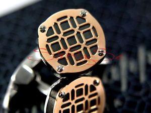 【送料無料】メンズアクセサリ— カフリンクローズゴールドステンレススチールmontegrappa filigree cuff links rose gold stainless steel