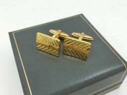 ダンヒル(カフス) 【送料無料】メンズアクセサリ— ダンヒルカフスボタンゴールドデザインボックスビジネススーツbeautiful dunhill cufflinks gold design and box vintage business suit jewelry