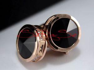 【送料無料】メンズアクセサリ— カフリンクローズゴールドステンレススチールmontegrappa nerouno cuff links rose gold stainless steel rhinestones