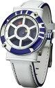 ロイド 腕時計(メンズ) 【送料無料】腕時計 スターウォーズレザーストラップドロイドコレクタクオーツアナログstar wars r2d2 droid collectors quartz analogue wrist watch with leather strap