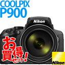 COOLPIX 【★SD16GB&コンパクトカメラバッグ等セット】【送料無料】Nikon(ニコン) デジタルカメラ COOLPIX P900 ブラック