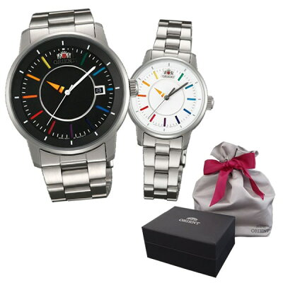 【ペア箱&ラッピング袋セット】 ORIENT(オリエント) 【腕時計】 WV0761ER・WV0011NB・箱・袋 STYLISH・SMART[スタイリッシュ アンド スマート] 【DISK ディスク】【機械式】【ペアウォッチ】