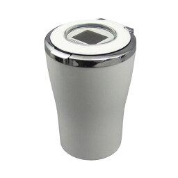 洋式水洗灰皿 槌屋ヤック/YAC:防滴水洗い可能 ブルーLED付タンブラー型灰皿 ホワイト アッシュトレイ/PZ-483/