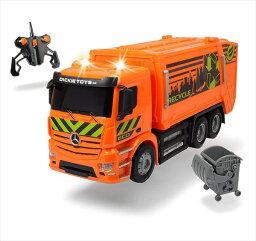 ラジコン ゴミ箱 ラジコンカー 1/18 Dickie Toys☆ラジコン トラック ゴミ収集車 オレンジ色 【予約商品】