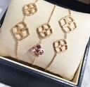ショパール ネックレス(レディース) 【新品】Chopard ショパール HAPPY DIAMONDS ネックレス 18Kローズゴールド バイオレットサファイア 819392-5002 (18Kローズゴールド46.2g/三つバイオレットサファイア 合計8.22ct)