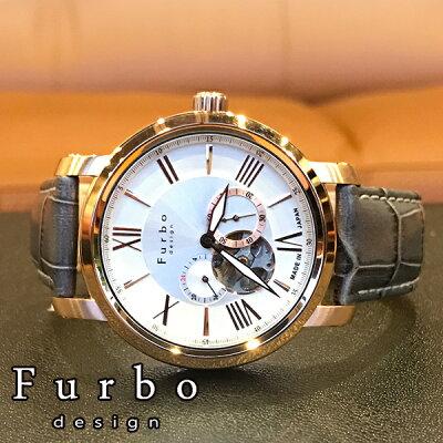 フルボデザイン 腕時計 Furbodesign 時計 フルボ デザイン 時計 Furbo design 腕時計 メンズ シルバー F5026GYSET 革 ベルト 正規品 機械式 自動巻 メカニカル おしゃれ オートマチック セット イタリア 送料無料