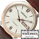ニューヨーカー ニューヨーカー腕時計 NEWYORKER時計 自動巻き腕時計 自動巻き時計 自動巻き 腕時計 時計 機械式腕時計 機械式 NEW YORKER ニューヨーカー トラッドマン Tradman メンズ ホワイト NY002-01 タータンチェック トラッド ルイ15世 送料無料