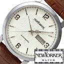 ニューヨーカー ニューヨーカー腕時計 NEWYORKER時計 自動巻き腕時計 自動巻き時計 自動巻き 腕時計 時計 機械式腕時計 機械式 NEW YORKER ニューヨーカー トラッドマン Tradman メンズ ホワイト NY002-02 タータンチェック トラッド ルイ15世 送料無料
