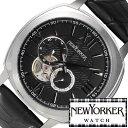 ニューヨーカー ニューヨーカー腕時計 NEWYORKER時計 自動巻き腕時計 自動巻き時計 自動巻き 腕時計 時計 機械式腕時計 機械式 NEW YORKER ニューヨーカー タイムパーソン Timeperson メンズ ブラック NY003-03 オープンハート クラシック ルイ15世 送料無料