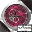 ニューヨーカー ニューヨーカー腕時計 NEWYORKER時計 自動巻き腕時計 自動巻き時計 自動巻き 腕時計 時計 機械式腕時計 機械式 NEW YORKER ニューヨーカー タイムパーソン Timeperson メンズ レッド NY003-08 オープンハート トラッド ルイ15世 送料無料