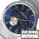 ニューヨーカー ニューヨーカー腕時計 NEWYORKER時計 自動巻き腕時計 自動巻き時計 自動巻き 腕時計 時計 機械式腕時計 機械式 NEW YORKER ニューヨーカー ジャスティス Justis メンズ NY005-05 オープンハート トラッドクラシック ルイ15世リューズ 送料無料