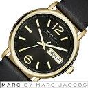 マークジェイコブス 腕時計(メンズ) マークバイマークジェイコブス 腕時計 [ Marc By Marc Jacobs 時計 ] マークジェイコブス ファーガス [ Fergus ] メンズ レディース 男女兼用 ブラック MBM1388 [ 人気 ブランド 革 ベルト レザー ゴールド ]