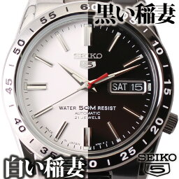 セイコーファイブ セイコー セイコー5 腕時計 SEIKO 時計 セイコーファイブ 黒い稲妻 白い稲妻 メンズ ブラック ホワイト SNKE03K SNKD97J [ メンズ腕時計 ガンメタ 海外 海外モデル 海外セイコー 逆輸入 機械式 自動巻き オートマ ブラックサンダー ホワイトサンダー FAVSEIKO]