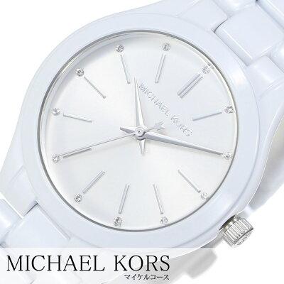 4f54f3258aed マイケルコース 腕時計 MichaelKors 時計 MichaelKors腕時計 マイケルコース時計 スリム ランウェイ SLIM RUNWAY  レディース シルバー