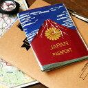 赤富士 パスポートケース パスポートケース カバー アカフジ