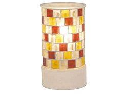 トリコ モザイク ガラス アロマ ライト 3色の色ガラスをモザイク模様のように敷きつめたキュートな「トリコ アロマランプ Amber(アンバー)」 キラキラ光る鮮やかな灯りがお部屋を彩る照明[代引不可]