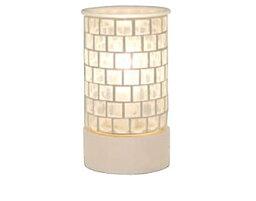 トリコ モザイク ガラス アロマ ライト 3色の色ガラスをモザイク模様のように敷きつめたキュートな「トリコ アロマランプ Clear(クリア)」 キラキラ光る鮮やかな灯りがお部屋を彩る照明[代引不可]