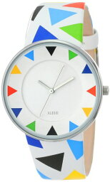 アレッシィ 腕時計(メンズ) Alessi アレッシィ メンズ腕時計 Men's AL8012 Luna Stainless Steel Harlequin Decoration Designed by Alessandro Mendini Watch