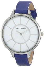 LIM'S アンクライン 時計 レディース 腕時計 Anne Klein Women's AK/1501WTPR Slim Silver-Tone Case Purple Leather Strap Watch