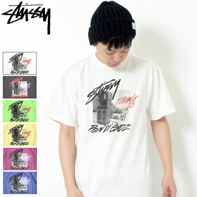 ステューシー STUSSY Tシャツ 半袖 メンズ Pon Di Endz Pigment Dyed(stussy tシャツ tee ティーシャツ T-SHIRTS カットソー トップス メンズ 1904205 USAモデル 正規 品 ストゥーシー スチューシー)[M便 1/1]