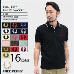 フレッドペリー フレッドペリー FRED PERRY ポロシャツ メンズ 半袖 ライン 半袖ポロ 日本製 男性用 (FREDPERRY F1528 鹿の子 定番 スポーツ ゴルフ Polo トップス フレッド・ペリー)