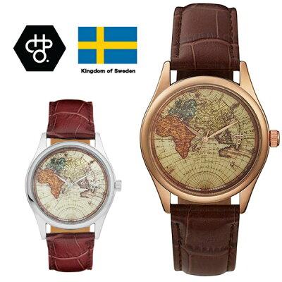 CHPO シーエイチピーオー CHEAPO チーポ ヴィンテージ メンズ 腕時計 ロジャーシルバー ロジャーメタル ワールド 革ベルト アナログ 北欧ブランド 国内正規品 あす楽
