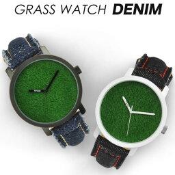 芝生 時計 芝生腕時計 GRASS WATCH DENIM グラスウォッチ デニム メンズ腕時計 デザインウォッチ iDEALTIME イデアルタイム mens 腕時計 あす楽