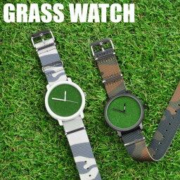 芝生 時計 芝生腕時計 GRASS WATCH CAMO グラスウォッチ カモフラージュ 迷彩 メンズ 腕時計 日本製 ムーブメント 防水 送料無料 あす楽