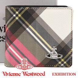 ヴィヴィアン 二つ折り財布 レディース ヴィヴィアンウエストウッド 財布 メンズ レディース Vivienne Westwood ヴィヴィアン 二つ折り財布 チェック 51010034 EXHIBITION 【あす楽】【送料無料】