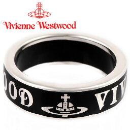 キングリング ヴィヴィアンウエストウッド リング 指輪 Vivienne Westwood コンジットストリートリング シルバー×ブラック 64040017-W114(SR222/31)【あす楽】【送料無料】