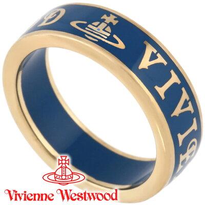 ヴィヴィアンウエストウッド リング 指輪 メンズ レディース Vivienne Westwood ヴィヴィアン コンジットストリートリング ブルー×ゴールド SR222/35 【あす楽】【送料無料】