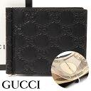 グッチ 二つ折り財布(メンズ) グッチ 財布 GUCCI クリップ付き二つ折り財布 グッチシマ メンズ ブラック 170580-CWC1N-1000 【お取り寄せ】【送料無料】
