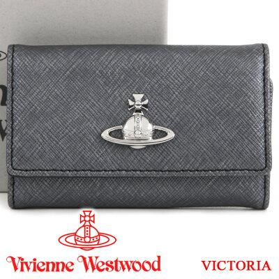 ヴィヴィアンウエストウッド キーケース Vivienne Westwood ヴィヴィアン 6連キーケース レディース メンズ グレー 51020001 VICTORIA ANTHRACITE 【あす楽】【送料無料】
