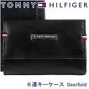 トミーヒルフィガー キーケース(メンズ) トミーヒルフィガー 6連キーケース TOMMY HILFIGER キーホルダー メンズ ブラック 31TL17X011 BLACK 【あす楽】