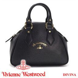 ヴィヴィアンウエストウッド ハンドバッグ(レディース) 【27日9:59までポイント3倍】 ヴィヴィアンウエストウッド Vivienne Westwood バッグ ハンドバッグ ブラック 7063V DIVINA BLACK 【02P03Dec16】