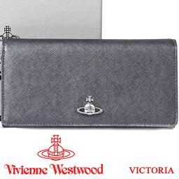 ヴィヴィアンウエストウッド 長財布(メンズ) ヴィヴィアンウエストウッド 財布 ヴィヴィアン Vivienne Westwood 長財布 メンズ レディース グレー 51060025 VICTORIA ANTHRACITE 【あす楽】【送料無料】