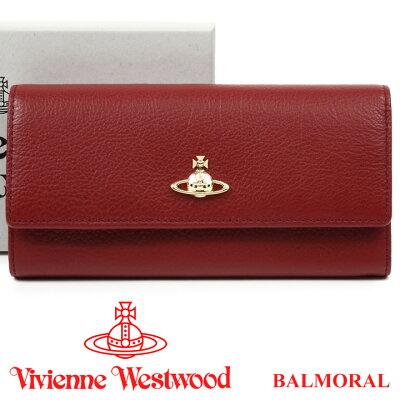 ヴィヴィアンウエストウッド 財布 ヴィヴィアン Vivienne Westwood 長財布 レディース バーガンディ 51060022 BALMORAL BURGUNDY 【お取り寄せ】【送料無料】