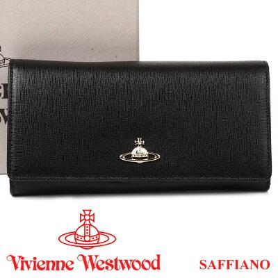 ヴィヴィアンウエストウッド 財布 ヴィヴィアン Vivienne Westwood 長財布 レディース メンズ ブラック 1032V SAFFIANO BLACK 【あす楽】【送料無料】
