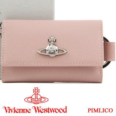 ヴィヴィアンウエストウッド キーケース Vivienne Westwood ヴィヴィアン 5連キーケース レディース ピンク 51120007 PIMLICO PINK 19SS 【あす楽】【送料無料】