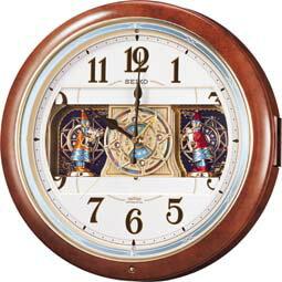 からくり時計 【からくり 掛 時計 電波 クロック メロディ】 電波 掛 時計 RE559H メロディ スイープ おやすみ秒針 電池切れ予告 セイコー SEIKO 【30%OFF】【お取り寄せ】 【02P26Mar16】 【RCP】